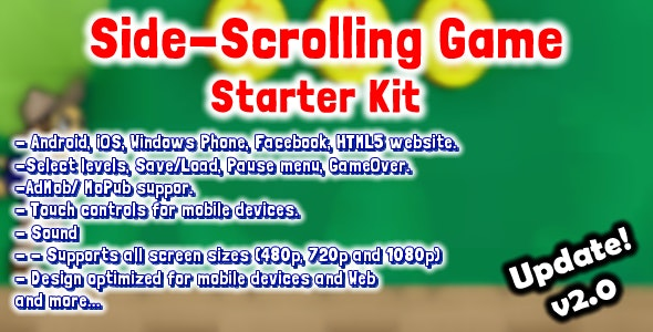 Side Scrolling Game Starter Kit - CodeCanyon Item for Sale