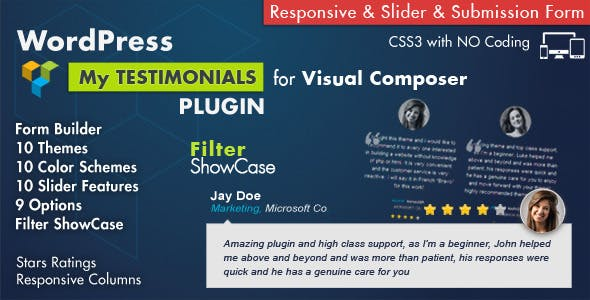 Testimonials Showcase for Visual Composer Plugin        Nulled