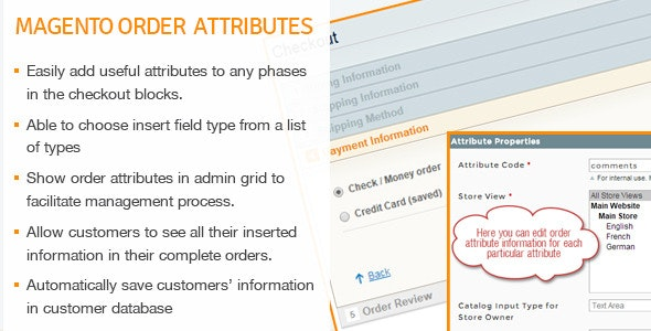 Magento Order Attributes - CodeCanyon Item for Sale