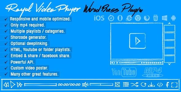Royal Video Player Wordpress Plugin - CodeCanyon Item for Sale