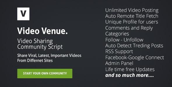 Video Venue : Community Script - CodeCanyon Item for Sale