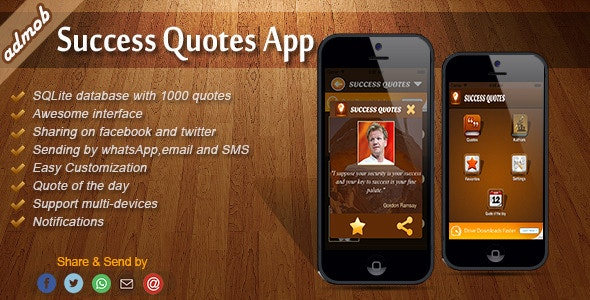 Success Quotes - iOS Template - CodeCanyon Item for Sale