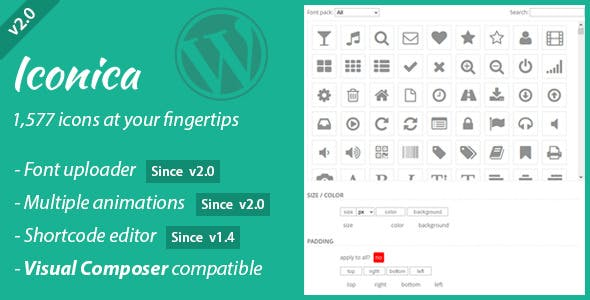 Iconica - WordPress Icons Made Easy