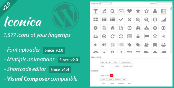 Iconica - WordPress Icons Made Easy - CodeCanyon Item for Sale
