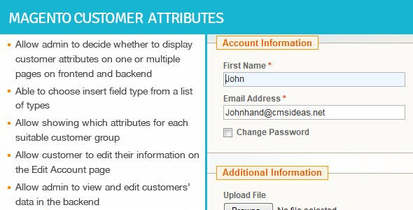 Magento Customer Attributes