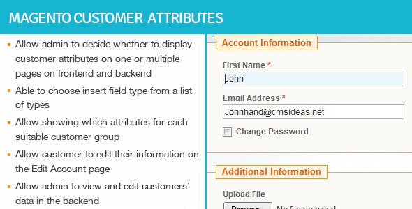 Magento Customer Attributes - CodeCanyon Item for Sale