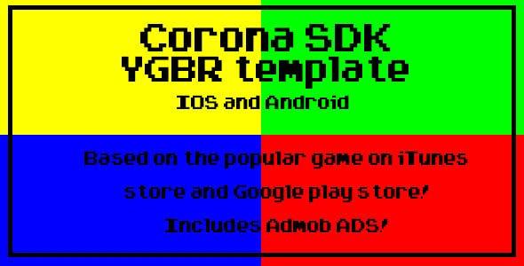Corona SDK YGBR Template