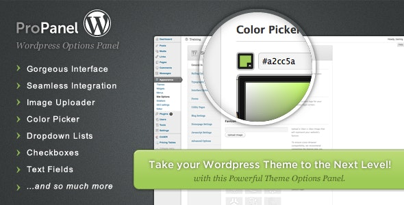 ProPanel - Wordpress Theme Options Panel - CodeCanyon Item for Sale