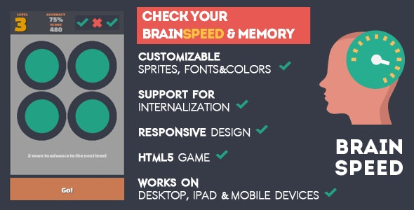 BrainSpeed - HTML5 game - CodeCanyon Item for Sale