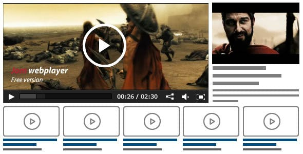 Jom Webplayer - A Joomla Video Gallery Extension