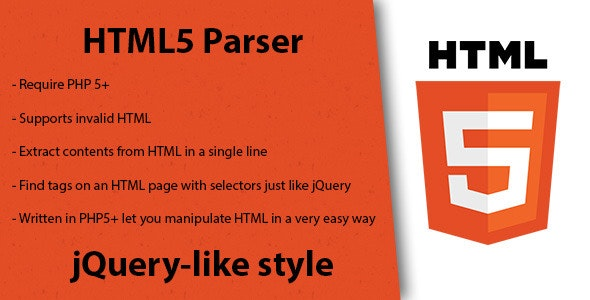 HTML5 Parser - CodeCanyon Item for Sale