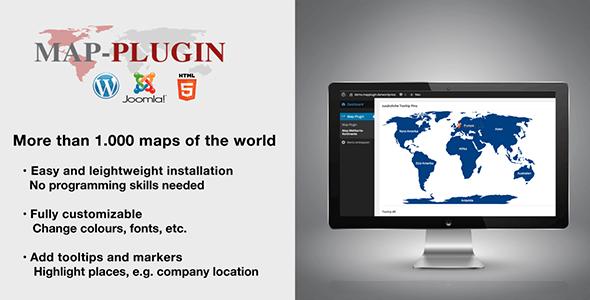 MAP-PLUGIN - More than 1.000 maps for Wordpress