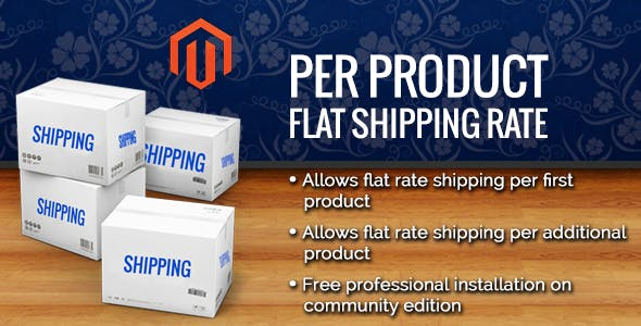 Per Product Flat Shipping Magento Extension