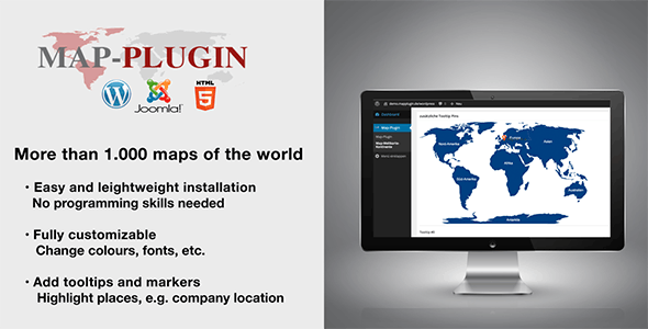 MAP-PLUGIN - More than 1.000 maps for Joomla