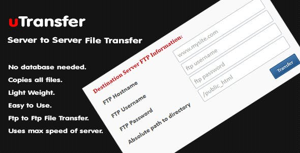 uTransfer - Server to Server File Transfer Script