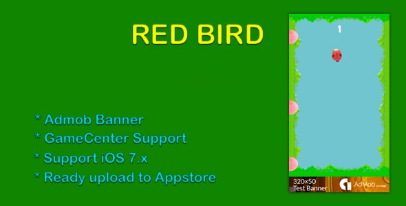 Red Bird -  Admob, GameCenter - CodeCanyon Item for Sale