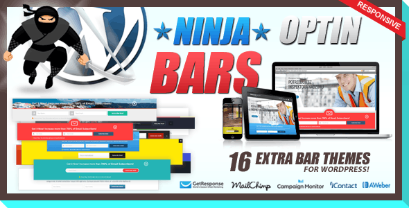 Optin Bars Pack for Ninja Popups
