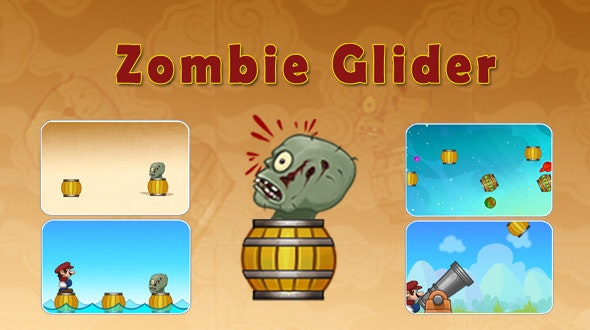Zombie Glider Game With AdMob