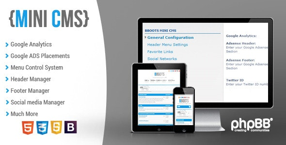 BBOOTS - Mini CMS system for phpBB - CodeCanyon Item for Sale