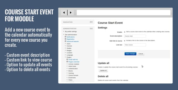 Course Start Event for Moodle