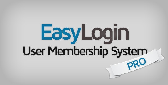 EasyLogin Pro - User Membership System - CodeCanyon Item for Sale