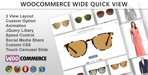 Wide Quick View - Woocommerce