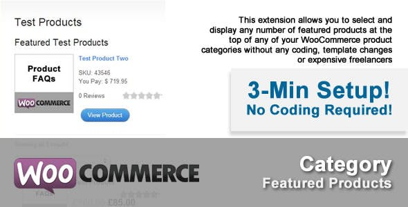WooFeatured: WooCommerce Category Featured Product