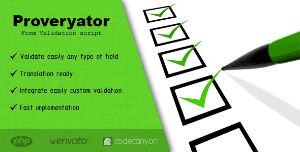 Proveryator - Form Validation script - CodeCanyon Item for Sale