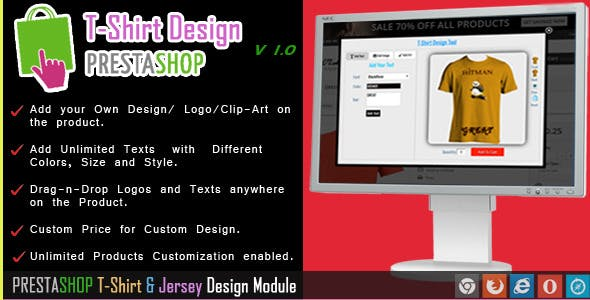 Custom  Product and T-shirt  Design for Prestashop