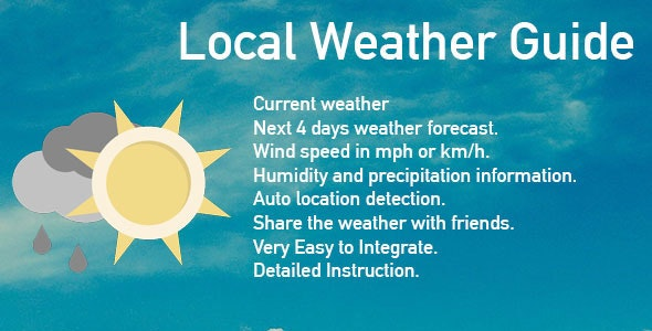 Local Weather Guide - CodeCanyon Item for Sale