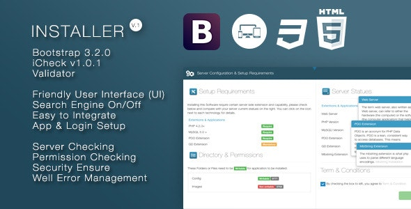 Installer - Responsive PHP Based Installation Wizard - CodeCanyon Item for Sale