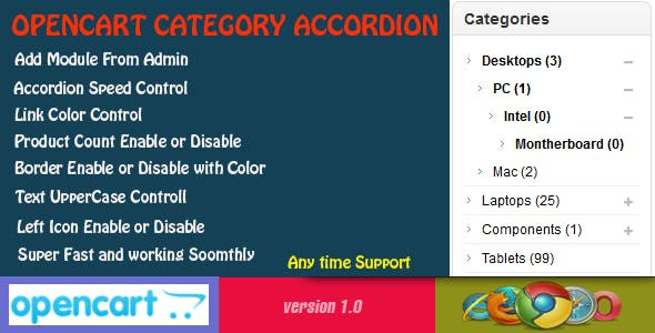 Opencart Category Accordion