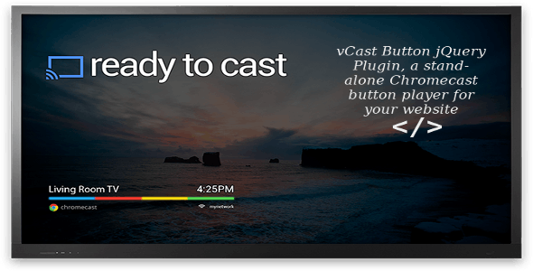 vCast Button jQuery Plugin - CodeCanyon Item for Sale