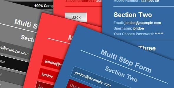 Ajax HTML5 jQuery Multi-Step Form