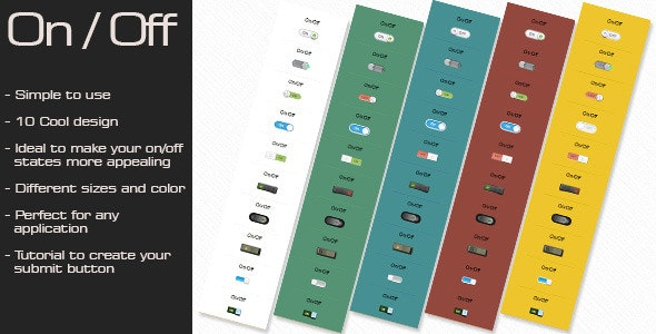 CSS3 On/Off Switch Buttons Effect - CodeCanyon Item for Sale