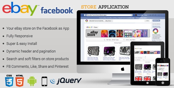 Facebook Ebay Store Application By Sheensol Codecanyon