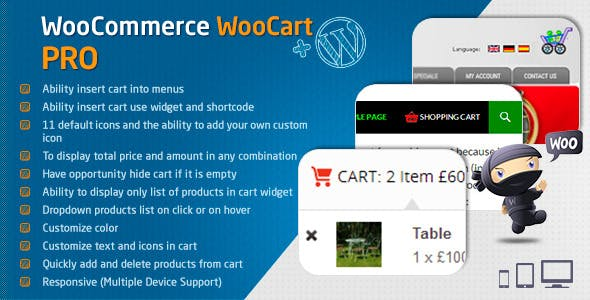 WooCart Pro - Dropdown Cart for WooCommerce        Nulled