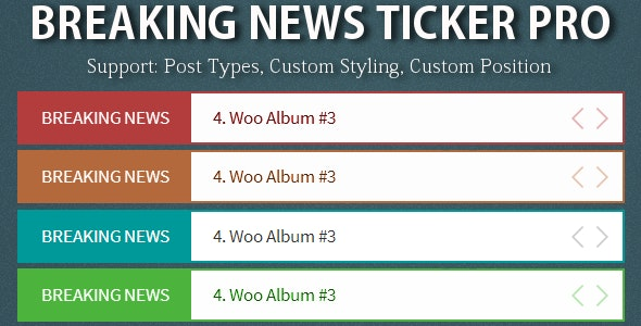 Breaking News Ticker Pro - CodeCanyon Item for Sale