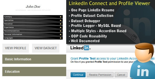 LinkedIn Connect + Profile Dataset+Profile Viewer - CodeCanyon Item for Sale