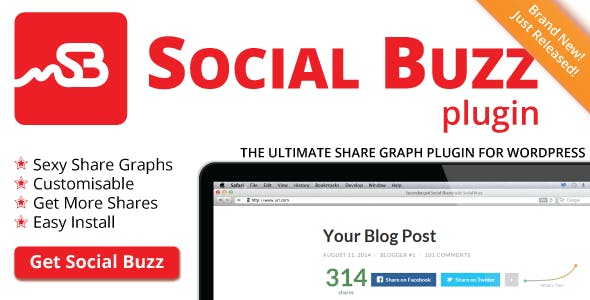 Social Buzz WordPress Plugin - Social Share Graphs