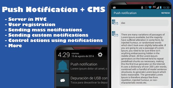 Push Notification App + CMS