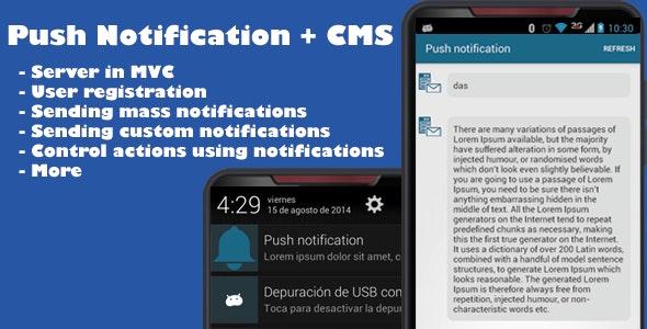 Push Notification App + CMS - CodeCanyon Item for Sale