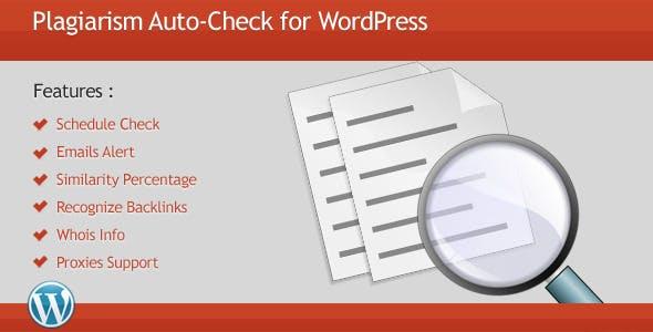 Plagiarism Auto-Check for WordPress