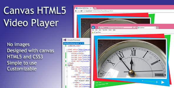 Simple HTML5 Video Player with Canvas