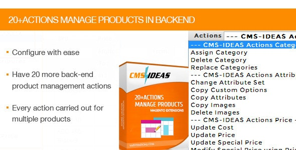 20 Plus Actions Manage Products in Backend - CodeCanyon Item for Sale