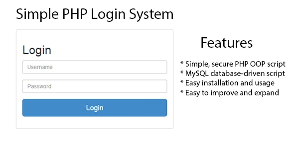 Simple PHP Login System - CodeCanyon Item for Sale