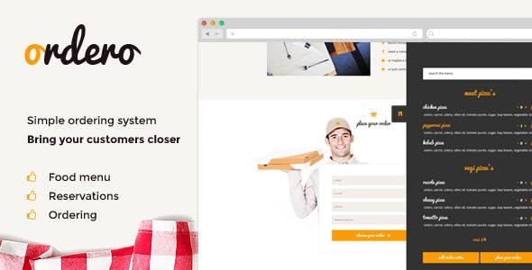 Ordero - Menu,Order,Reservation Wordpress Plugin