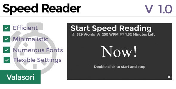 Speed Reader - CodeCanyon Item for Sale