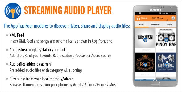 Streaming Audio Player - CodeCanyon Item for Sale