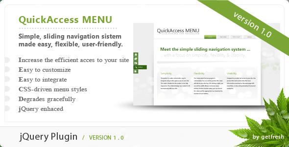 QuickAccess Menu - CodeCanyon Item for Sale